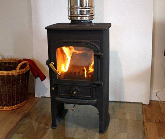 The wood stove